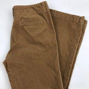 Old Navy Corduroy pants Brown Camel Sz 12 stretch